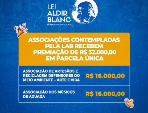 ASSOCIAÇÕES DO MUNICÍPIO SÃO CONTEMPLADAS COM PREMIAÇÕES DA LEI ALDIR BLANC